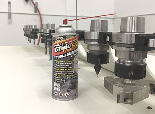 DynaGlide dry lubricant maximizes performance and extends the life of all CNC type machinery and cutting heads.