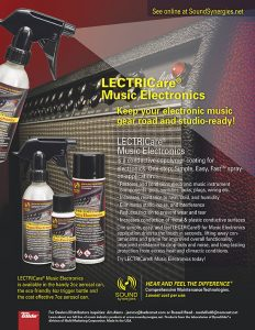 DynaGlide Product Sales Sheet for LECTRICare Music Electronics which restores and conditions electronic music instrument components: pots, switches, jacks, plugs, wiring, etc.